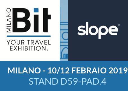 Venite a trovarci alla BIT Milano e seguite i seminari Slope