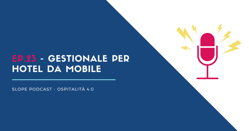 PMS Gestionale Hotel da Mobile Slope