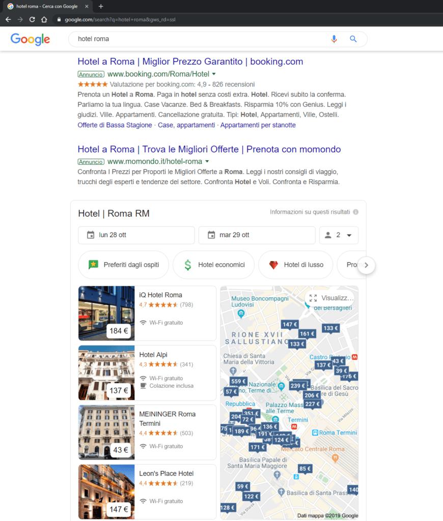Google Hotel Ads Slope