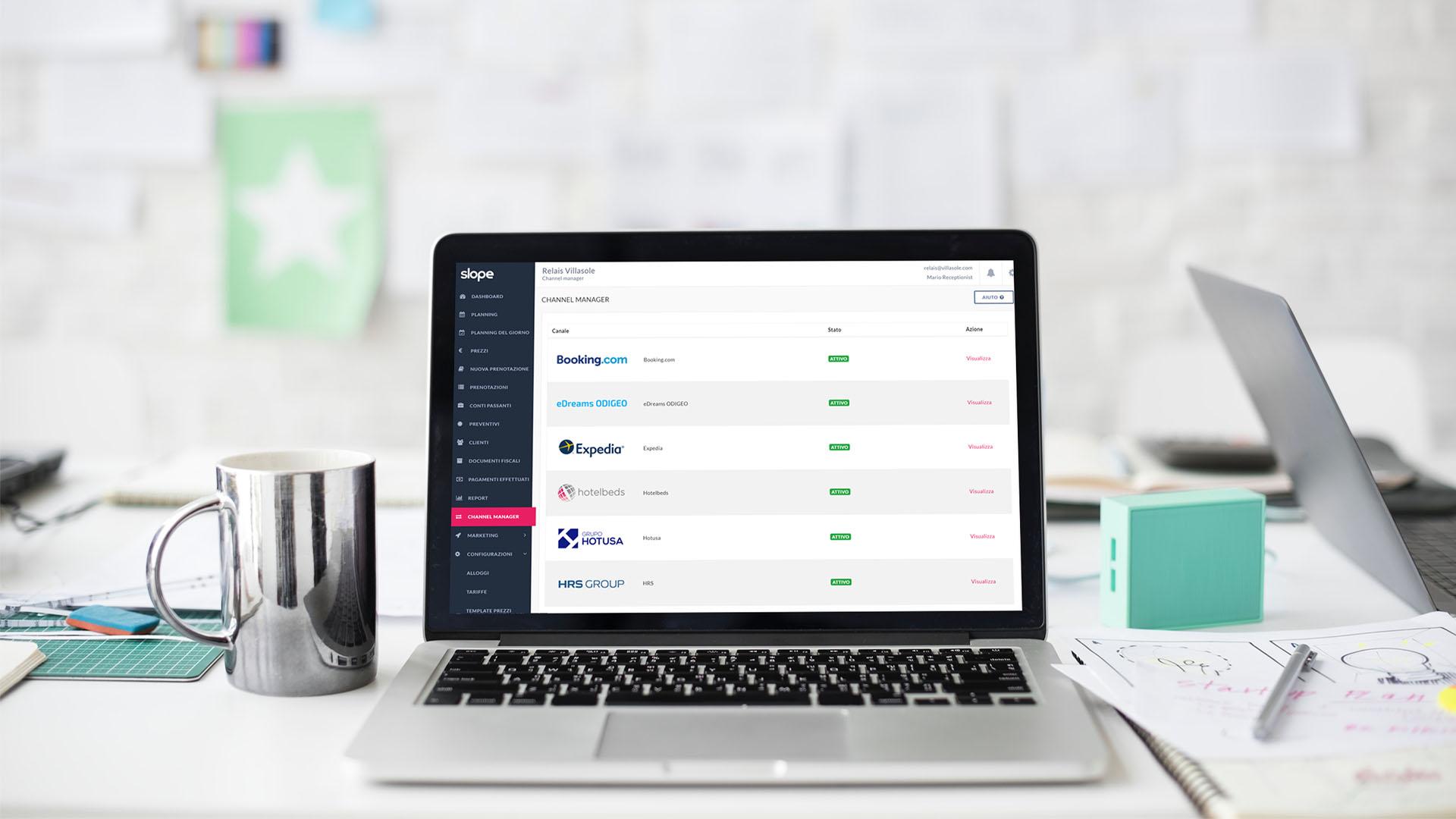 Lo strumento Channel Manager permette di gestire i canali OTA ed il rispettivo extranet