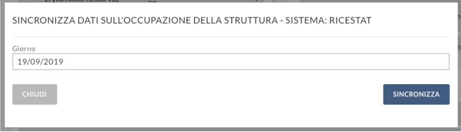 sincronizzare dati ISTAT sull'occupazione della struttura attraverso Ricestat Livorno e Grosseto