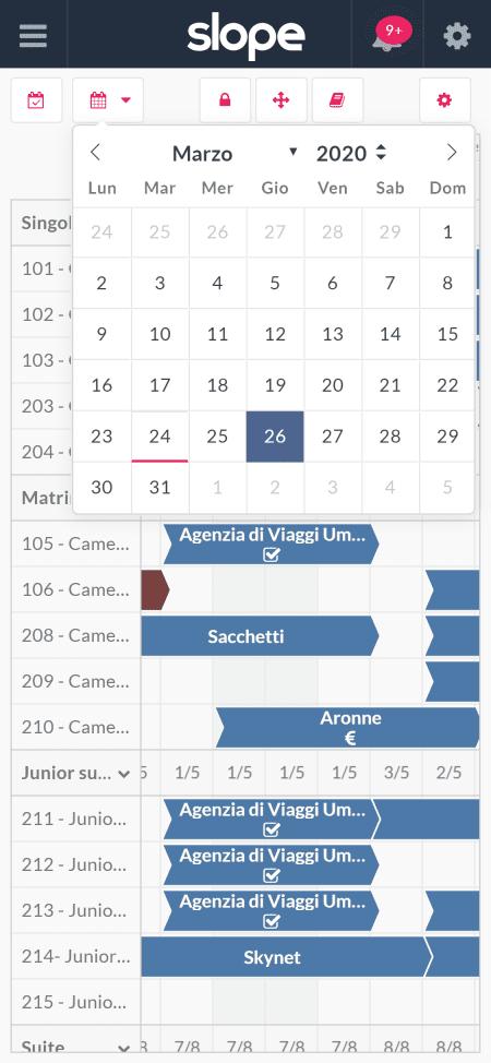 Calendario delle prenotazioni